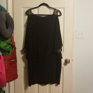Betsy and Adam black mini dress